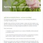 Simplifile Spring Erecording Email